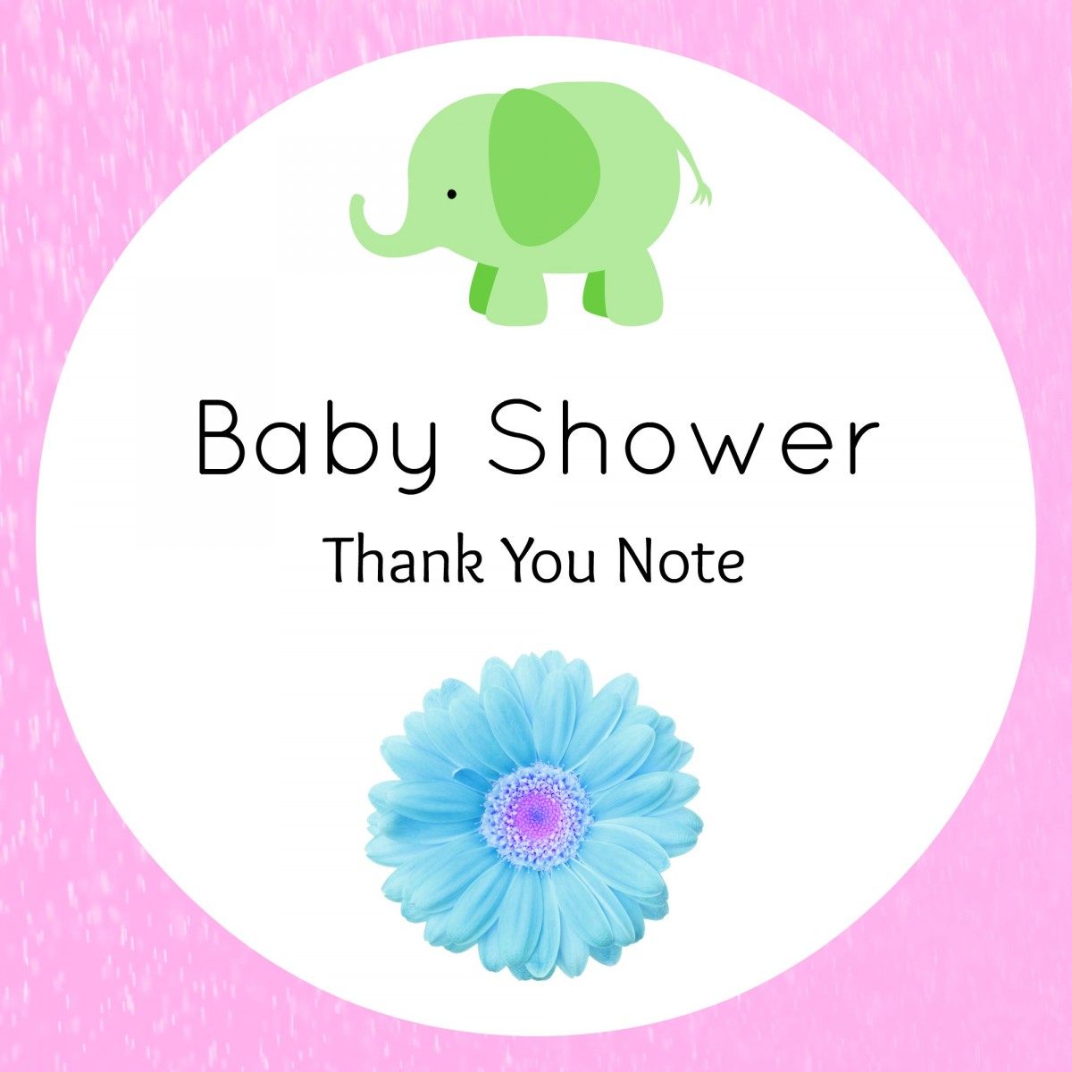 baby shower thank you note confetti bliss