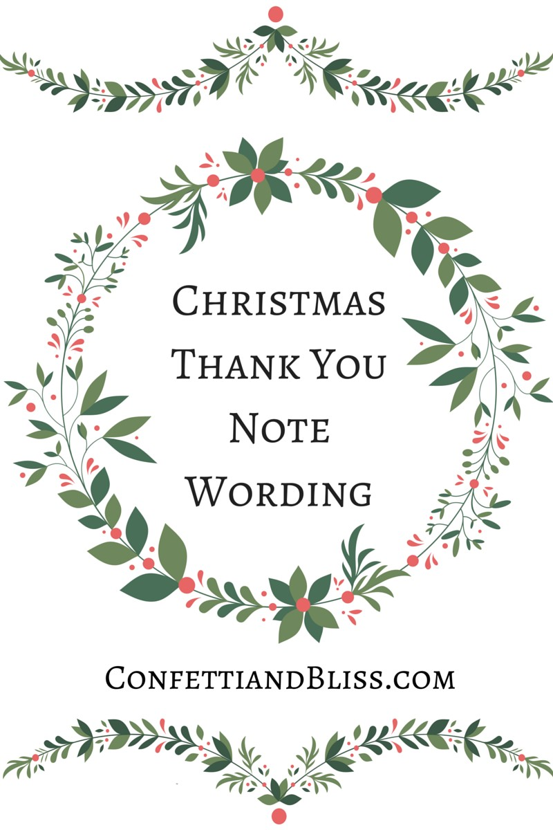 Baby Gift Thank You Note Wording : Christmas thank you notes dinner