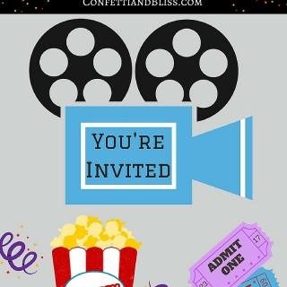 Movie Night Party + Free Printables