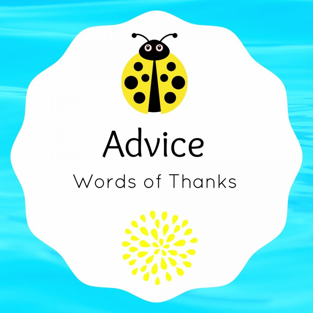 Advice Words of Thanks