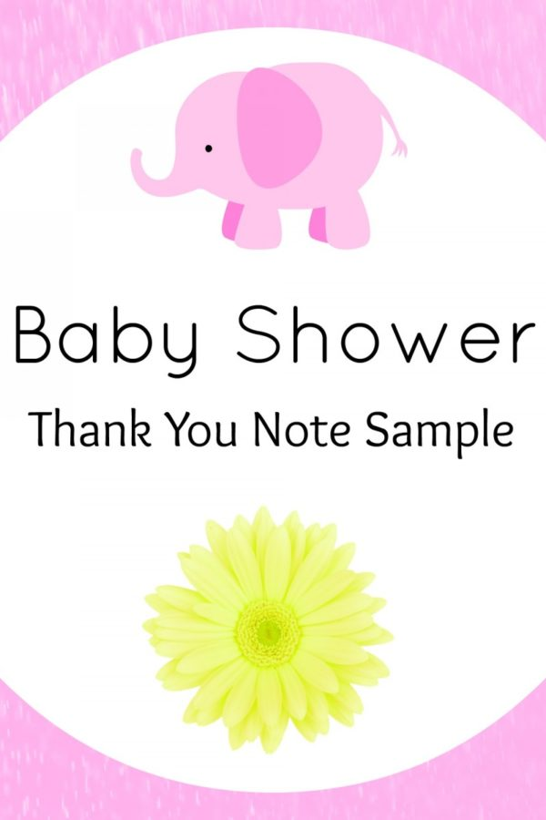 Baby Shower Thank You Note Sample