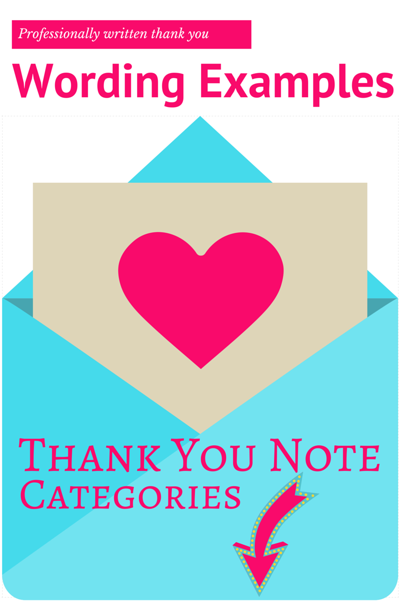 thank you note wording examples