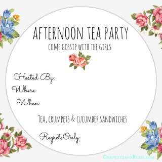 Tea Party Invite Printable