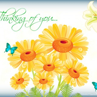 Thinking of You Card Wording