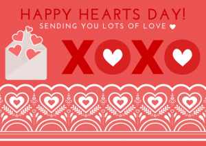 Printable Valentine's Day Card xoxo