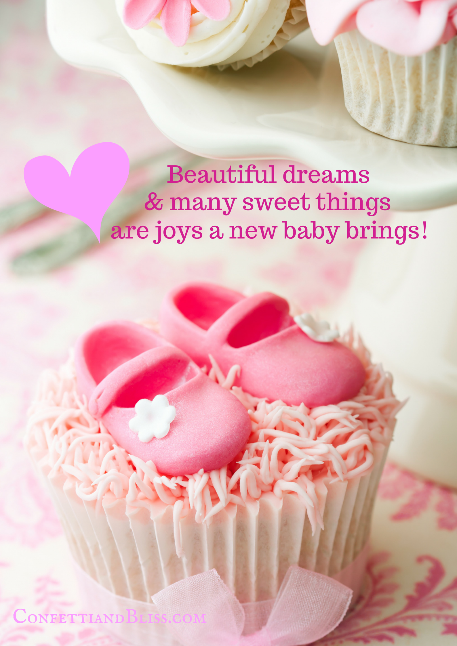 Baby Shower Greeting Card Wording Confetti & Bliss