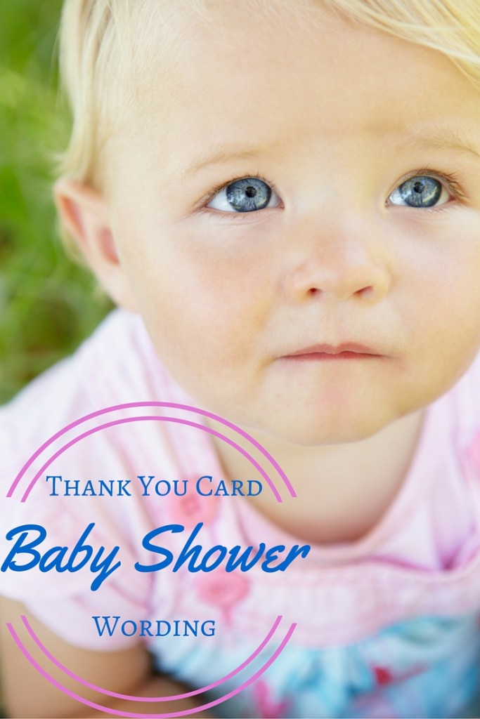 Picture of baby for baby shower thank you note