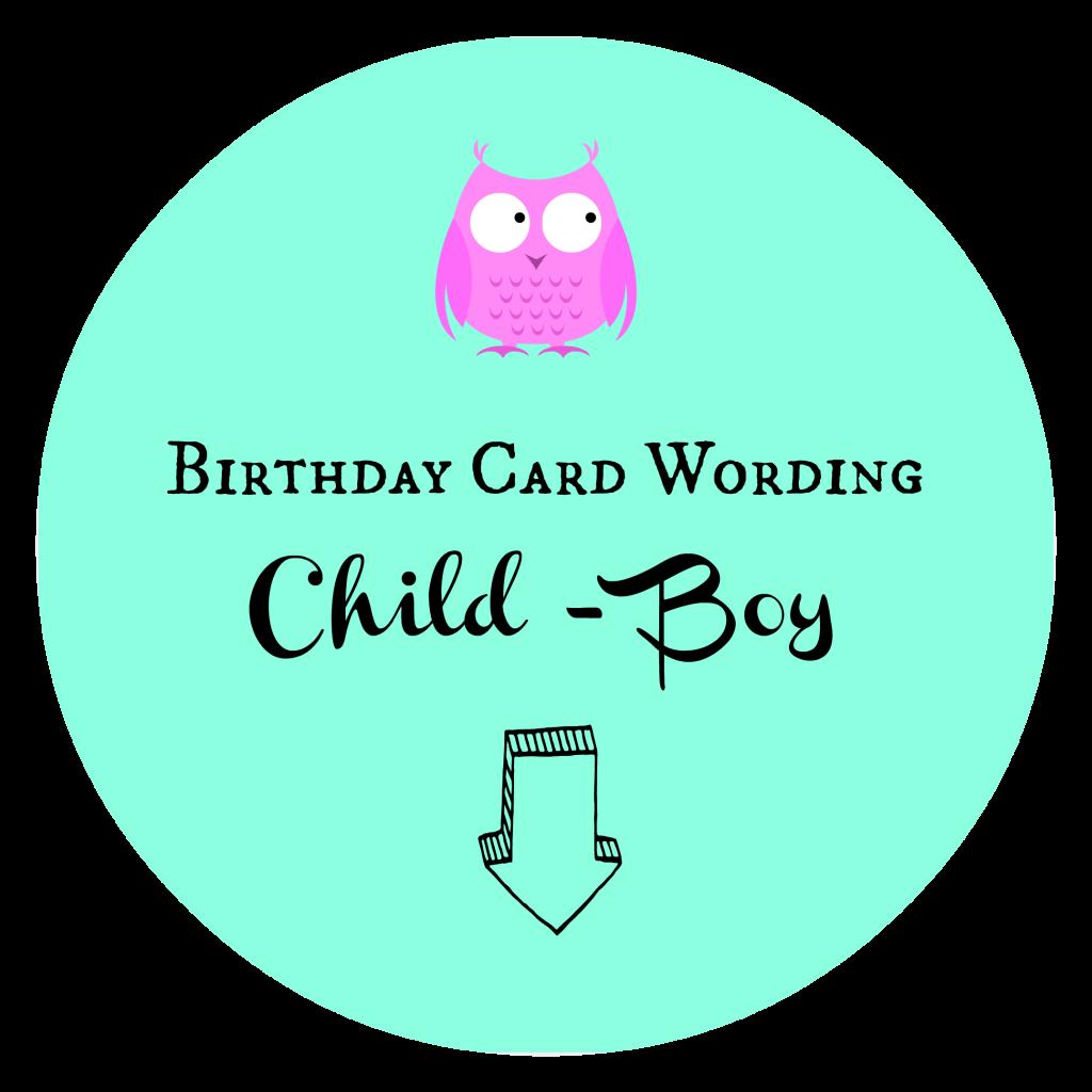 Birthday Card Wording Child Boy