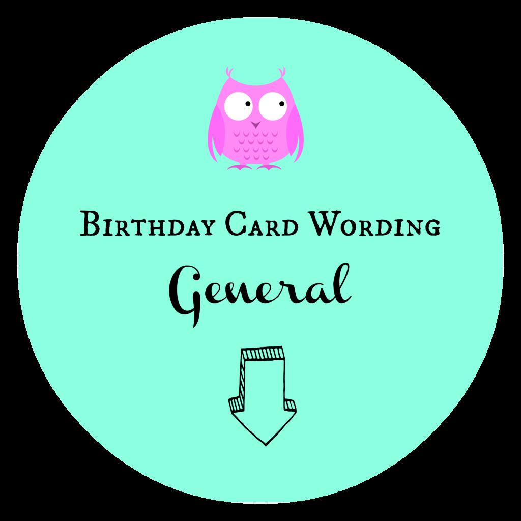 Birthday Card Wording