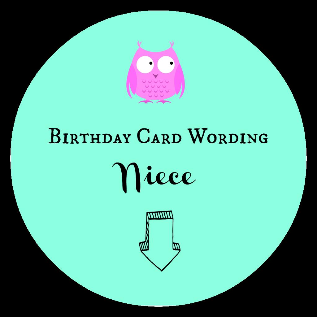 Birthday Card Wording Niece
