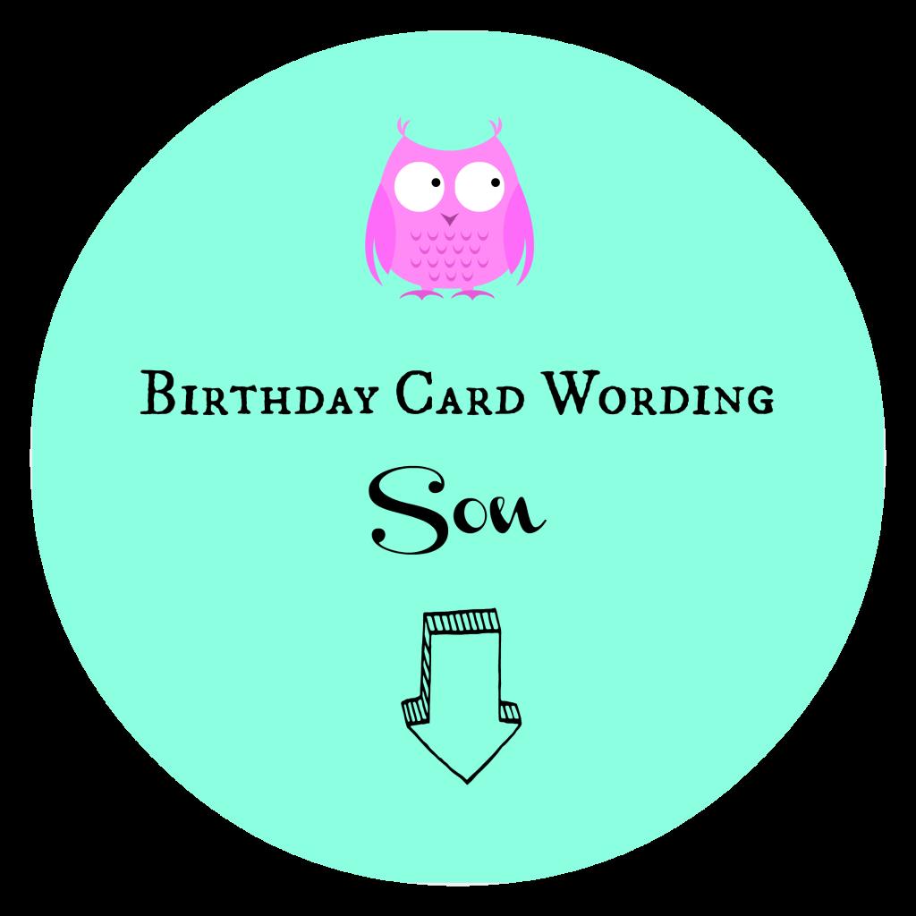 Birthday Card Wording Son