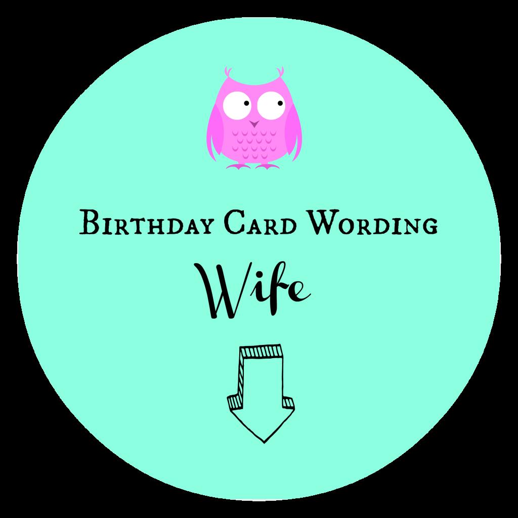Birthday Card Wording Wife