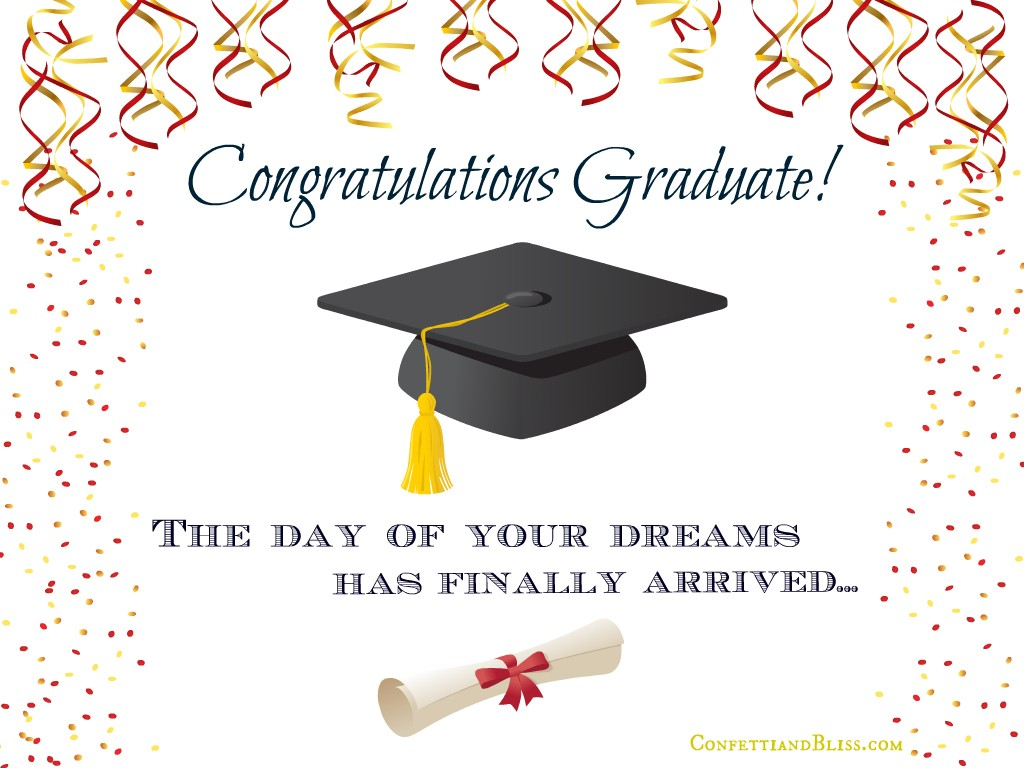 Graduation Card Wording | Confetti & Bliss