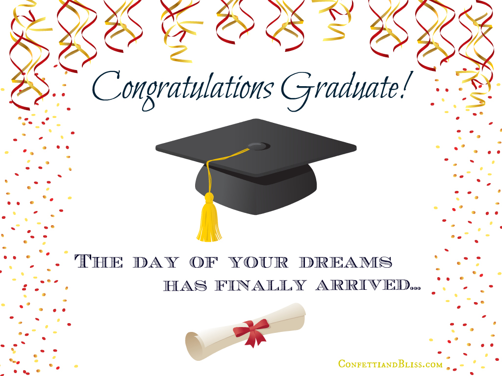 Graduation card wording confetti bliss graduation card m4hsunfo