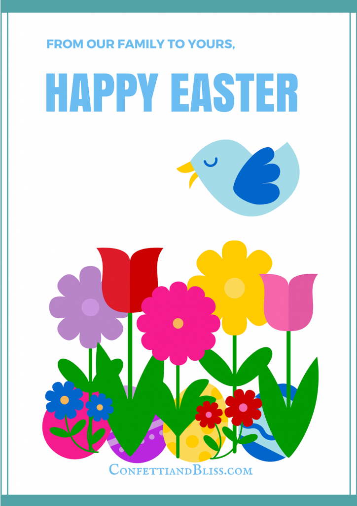 Easter Greeting Card Printable