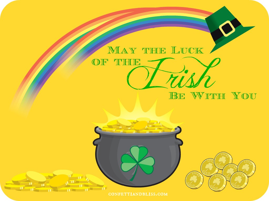 St Patricks Day Greeting Card Wording Confetti Bliss