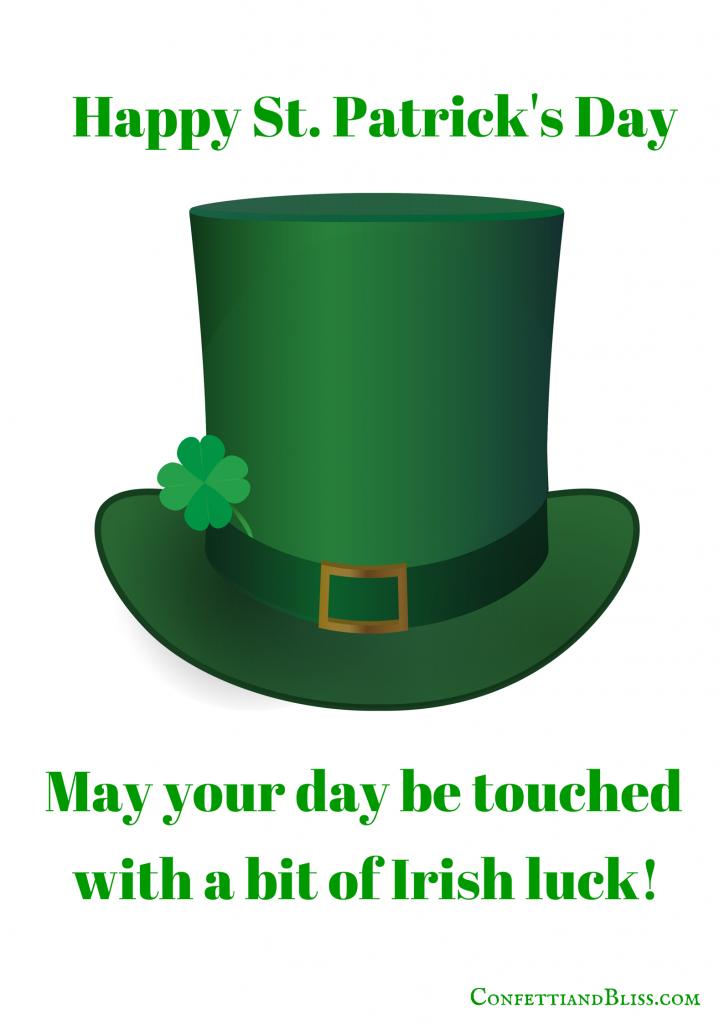 St. Patrick's Day Greeting Card Printable
