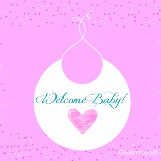 Welcome Baby Bib Printable