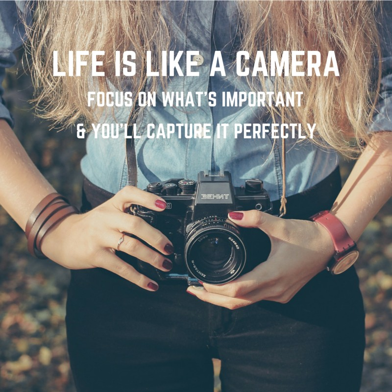 Popular Quotes: Life is like a camera