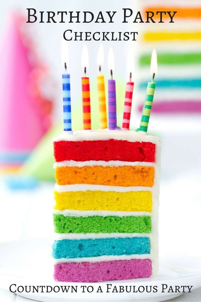 Birthday Party Checklist: Countdown to a fabulous birthday party! Complete party planning guide | confettiandbliss.com