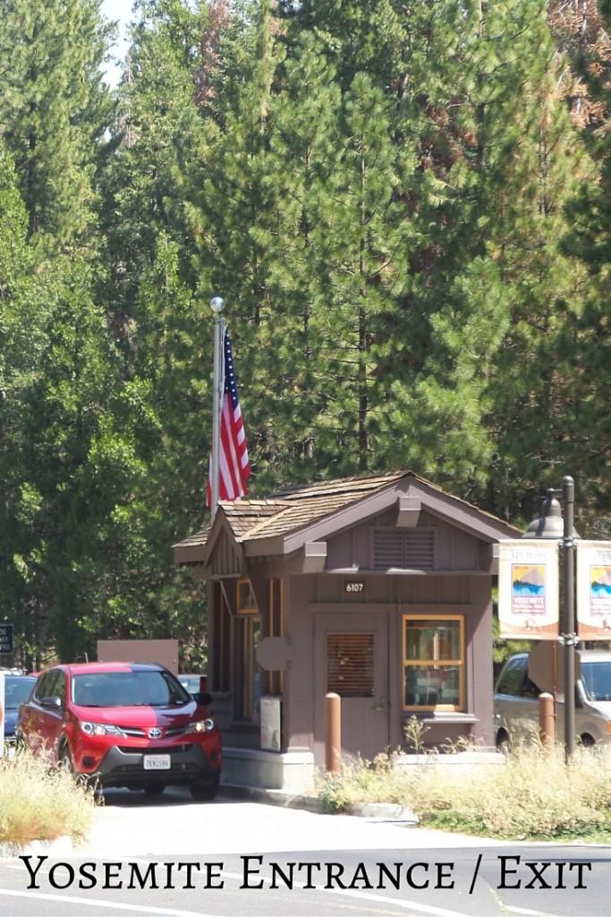 Yosemite National Park Entrace Gate