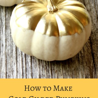 Spectacular Fall Decor: How to Make Gold Gilded Pumpkins