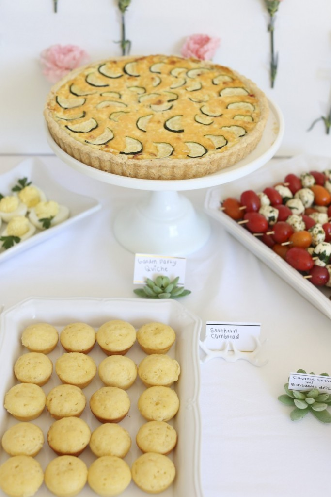 Garden Party Quiche | Original recipe by confettiandbliss.com | Prepared for a beautiful baby shower for Melissa of bestfriendsforfrosting.com | Image courtesy of nicholebremerphotography.com