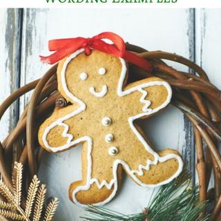 Christmas Thank You Card Wording: Holiday Wreath