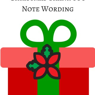 Christmas Thank You Note Wording: Gift Cards
