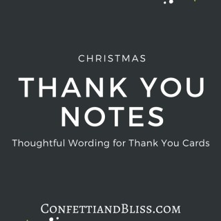 Christmas Thank You Card: Thank You Note Wording Example
