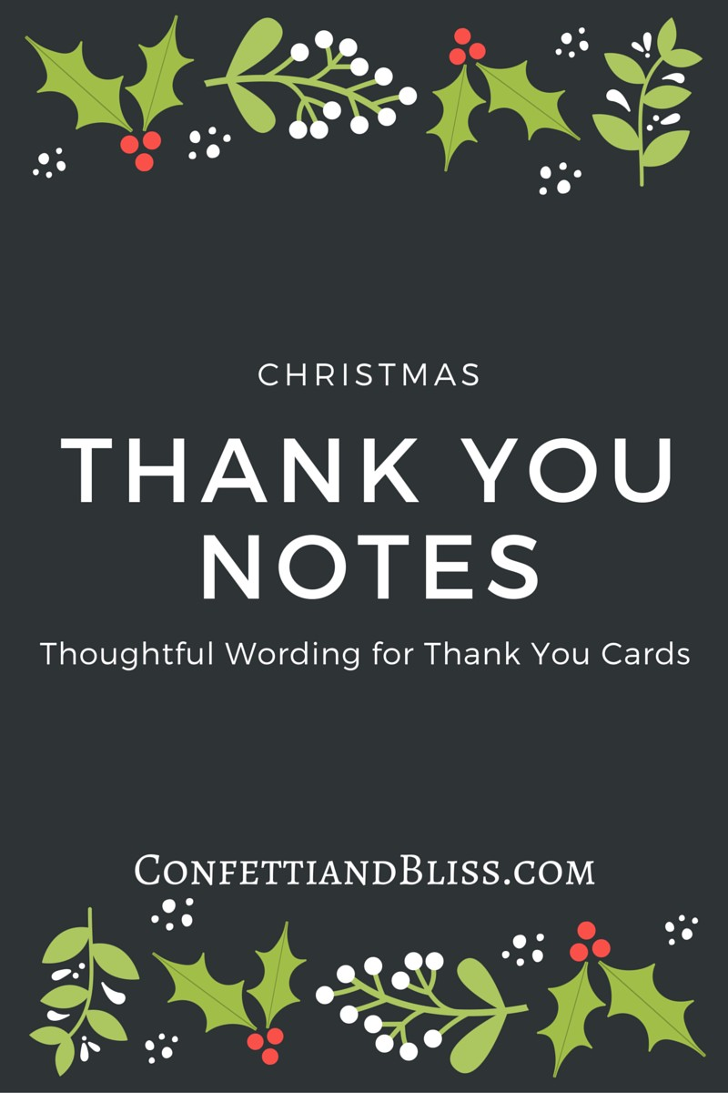 Christmas Thank You Card Wording | Confetti & Bliss