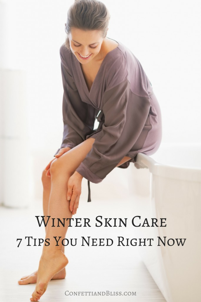 Winter Skin Care | When temperatures dip the loss of precious moisture can cause skin issues to develop. This is your guide for winter skin care: 7 tips you can use right now!