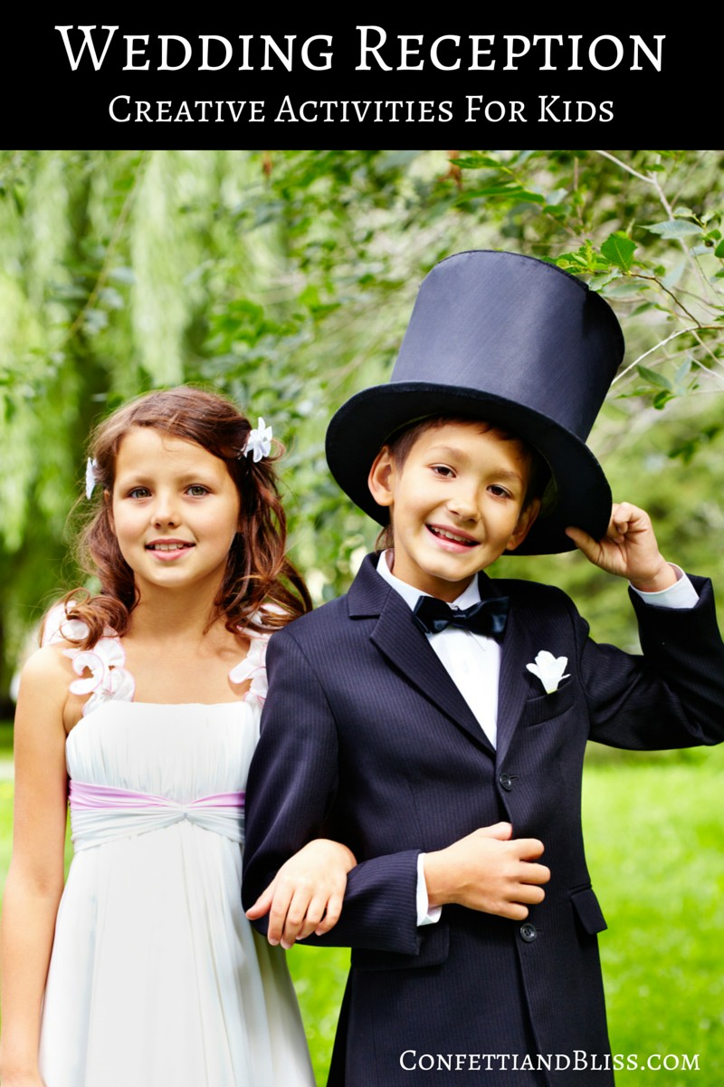 Clever Wedding Reception Ideas Creative Activities For Kids