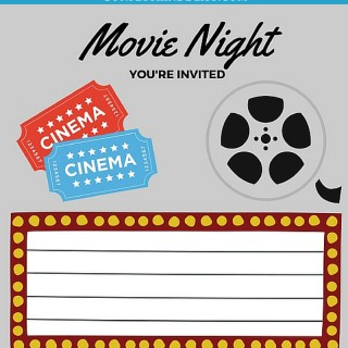 Free Printables | Printable Movie Night Invites