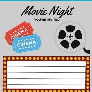 Free Printables | Printable Movie Night Invites