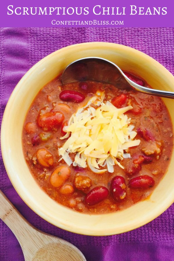 How to Make Chili | Best Chili Recipe | Chili Beans | confettiandbliss.com