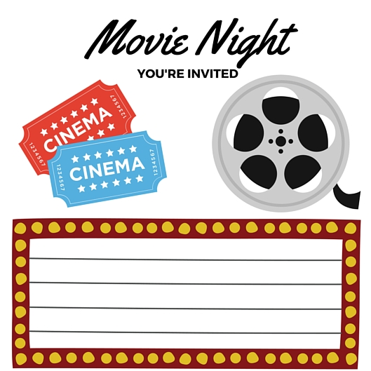 free printables movie night invite printable