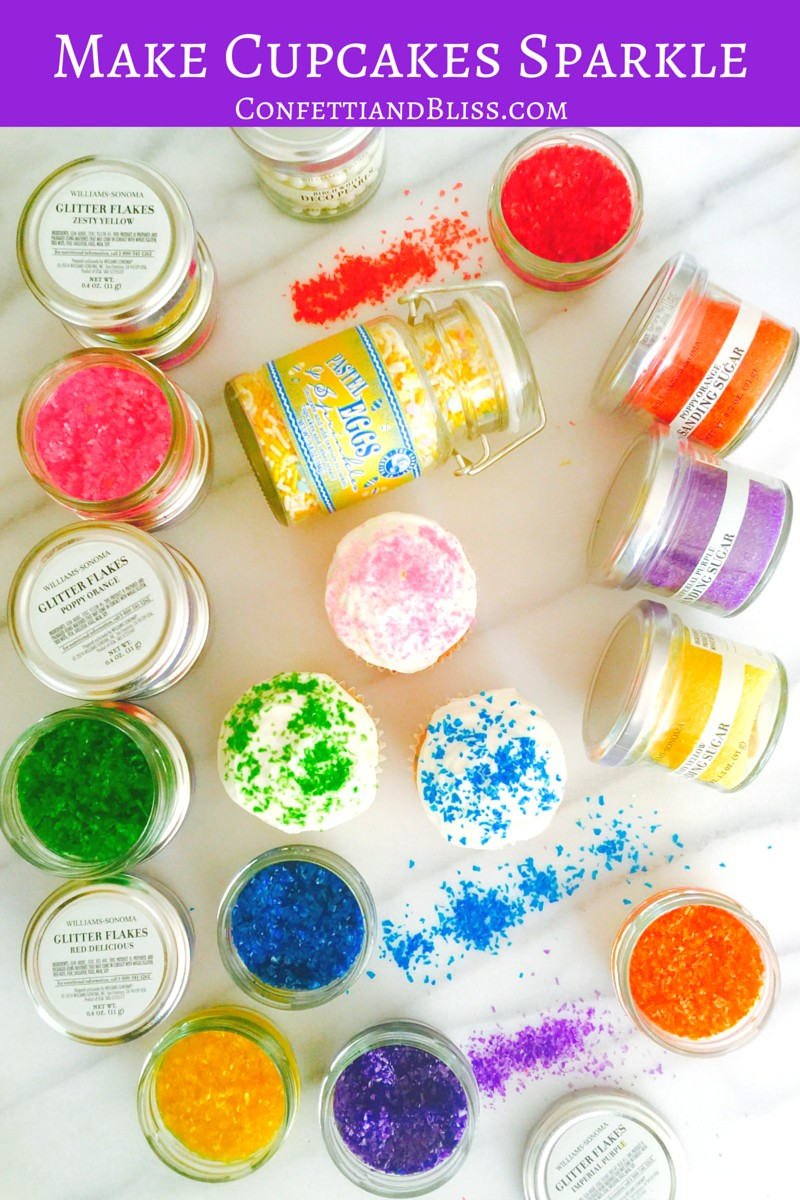 How to Decorate Cupcakes | Williams Sonoma Glitter Flakes