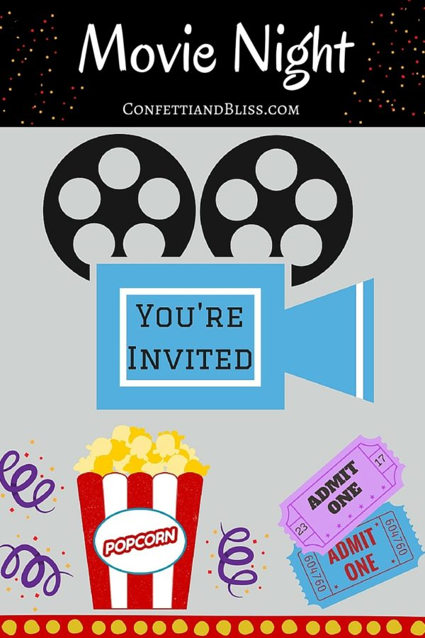 Movie Night Party + Free Printables