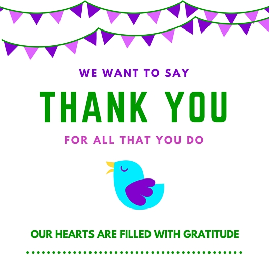 Thank You Card Printable With Birdie