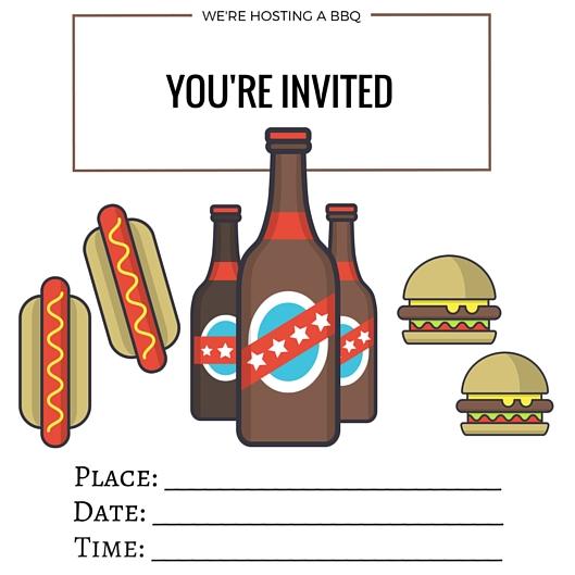 Free Printables | Printable BBQ Invite | confettiandbliss.com