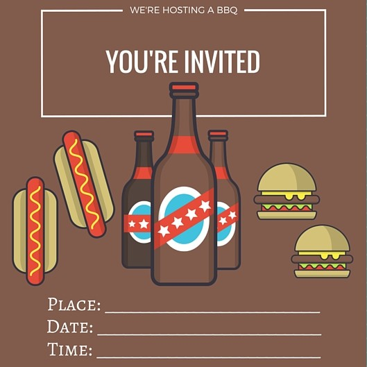Printable | BBQ Invite | Free Printables | confettianbliss.com