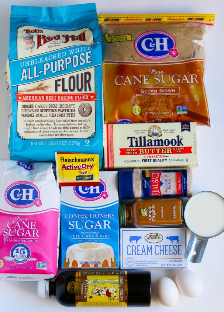 Ingredients for Cinnabon Cinnamon Rolls Recipe