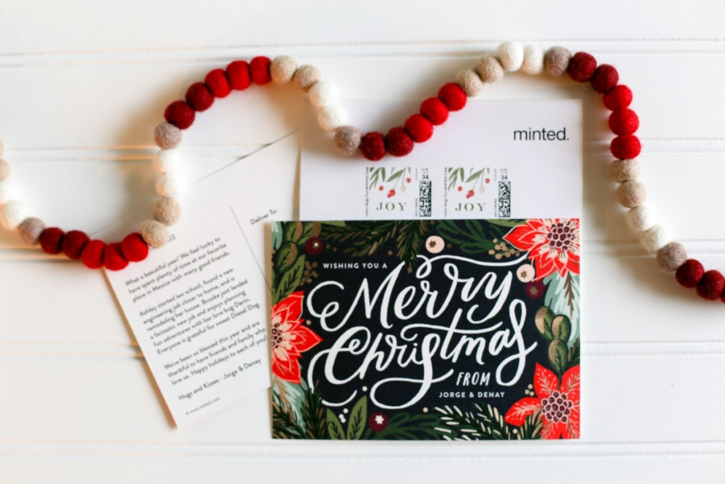 Minted Christmas Cards for Peppermint Patty Recipe Post