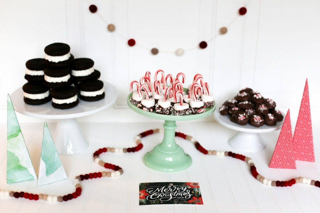 Peppermint Patties and Minted Christmas Tablescape