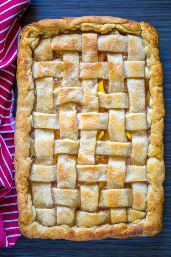 Peach Slab Pie