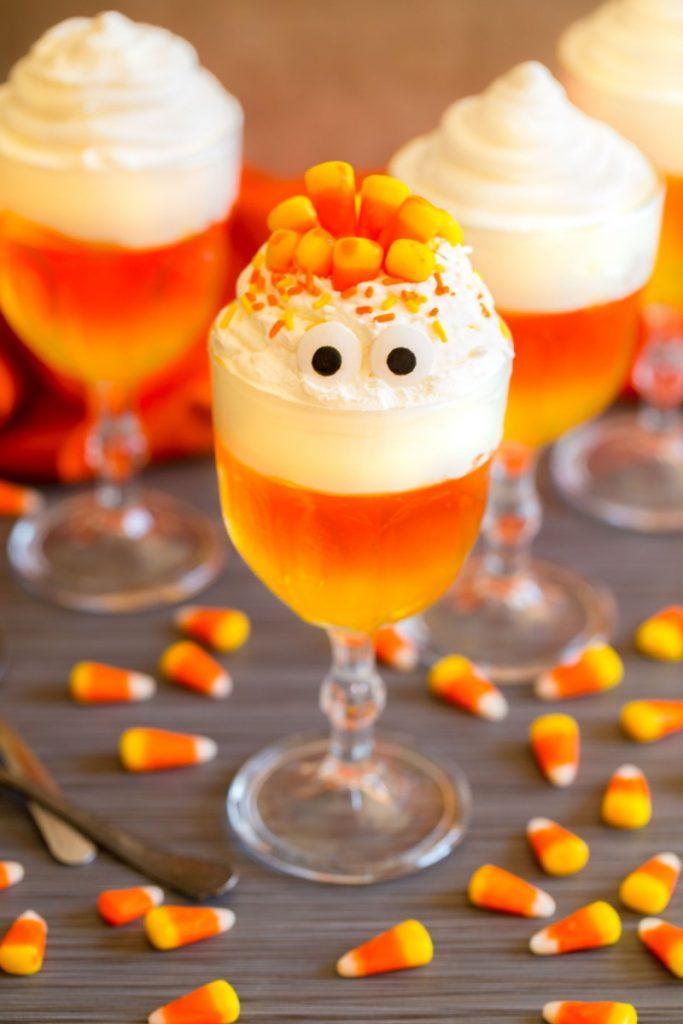 Candy Corn Jello Cups
