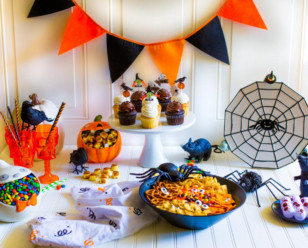 Festive Halloween Party Tablescape