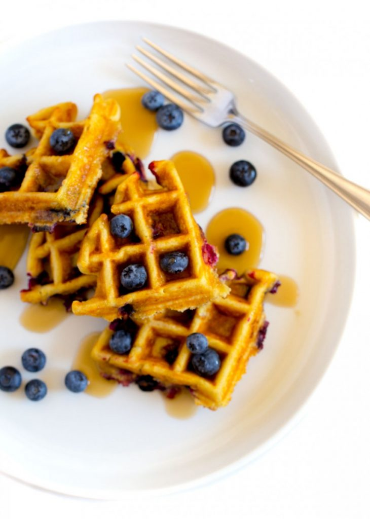 Mexican Blueberry Waffles