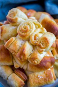 Buttery Parker House Rolls